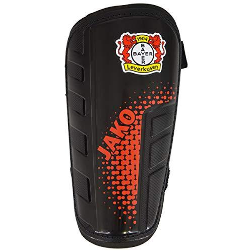 JAKO Bayer 04 Leverkusen Schienbeinschoner, schwarz, XL