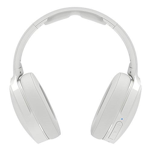 Skullcandy Hesh 3 Bluetooth Kabellose Over-Ear Kopfhörer mit Mikrofon, Schnellladefunktion mit 22 Stunden Batterielaufzeit, Faltbar, Ohrpolster, Weiß/Purpurrot