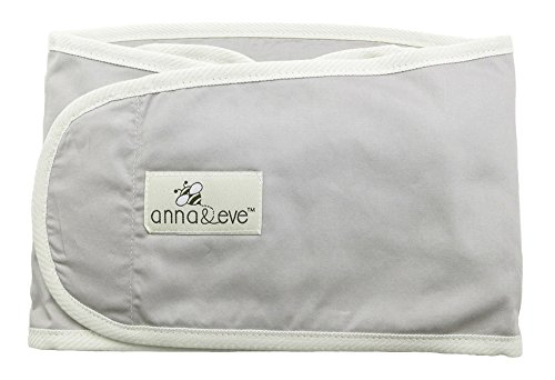Anna & Eve - Baby Swaddle Strap, Adjustable Arms Only Wrap for Safe Sleeping - Large Size Fits Chest 16 to 20.5, Grey