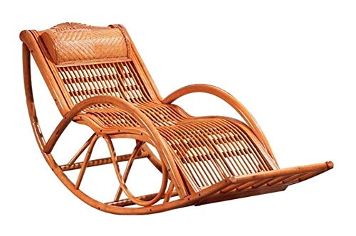 Muebles para el Hogar Silla cómoda meditación al aire libre mecedora, Rattan Patio Porche Silla...