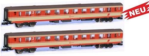Unbekannt J rndorfer JC60250 2-TLG. Set Inlandsreisezugwagen   Jaffa-Lackierung
