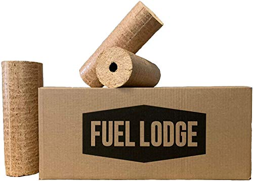 Fuel Lodge Birch Hardwood Briquettes Woodfuels Logs 100kg (50 logs)| Fire Logs for Wood Burners Log Stoves Ovens Fire Pits or Fireplace
