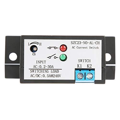 Interruptor de detección de corriente Baverta - Interruptor de detección de corriente CA Interruptor de detección de corriente normalmente abierto CA ajustable 0.2-30A SZC23-NO-AL