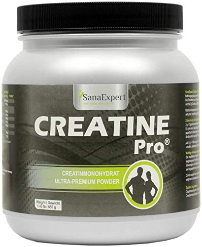 SanaExpert Creatine Pro (Creapure), Sports Drink for 215 Servings, 100% creatine monohydrate, creatine Powder, Highly Soluble, Climate-Neutral, 650 g