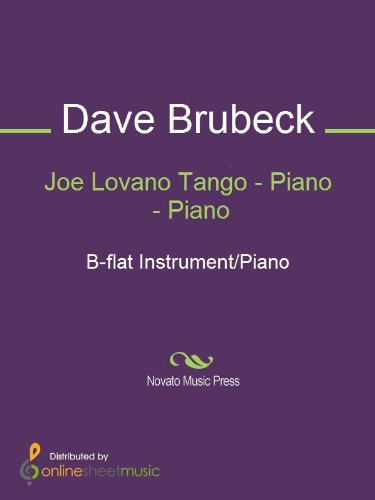 Joe Lovano Tango - Piano (English Edition)