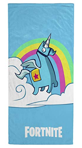 Jay Franco Fortnite Brite Unicorn Kids Bath/Pool/Beach Towel - Super Soft & Absorbent Fade Resistant Cotton Towel, Measures 28 inch x 58 inch (Official Fornite Product)