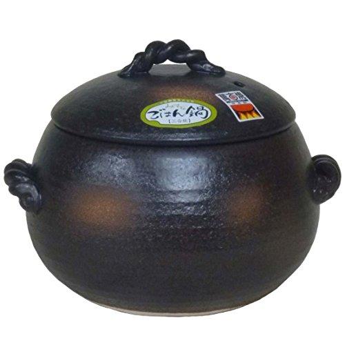 三鈴陶器 ごはん鍋 ご飯土鍋 5合炊き 四日市 万古焼