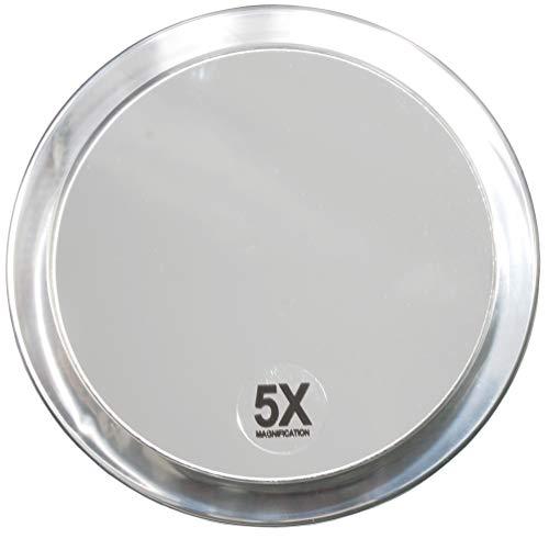 Fantasia 1355 - Espejo cosmético con Ventosa para Fijar a la Pared (5 aumentos, 15 cm), plástico