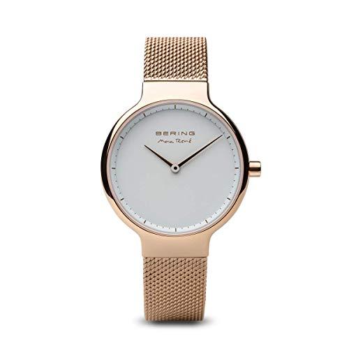 BERING Damen-Armbanduhr Analog Quarz Edelstahl 15531-364
