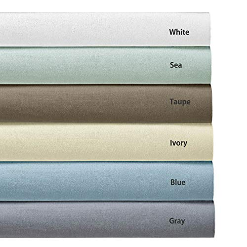 Royal's Heavy Soft 100% Cotton Flannel Sheets, 4pc Bed Sheet Set, Deep Pocket, Thick, Heavy and Ultra Soft Cotton Flannel, Gray, Queen