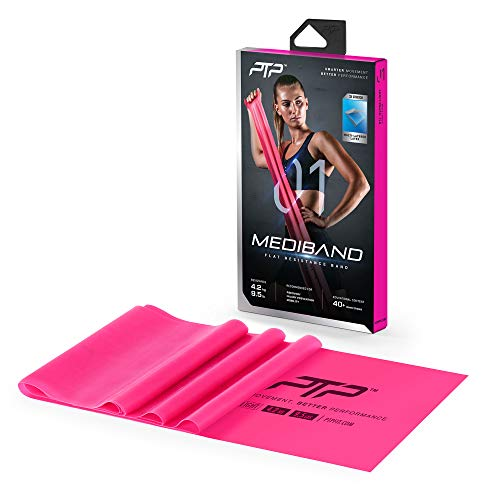PTP Unisex– Erwachsene Medi Fitness Bänder, rosa, 150 x 15 cm