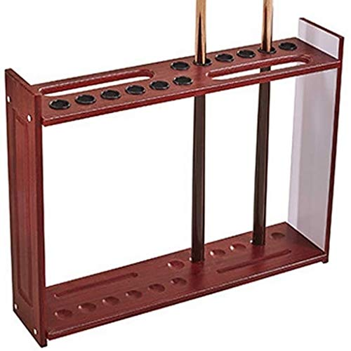 WXS Snooker Cue Rack, Pool Cue Clips Pool Cue 12 Cues Rack Contient Snooker Accessoires for Les Écoles Homes Clubs (Color : Wine Red)