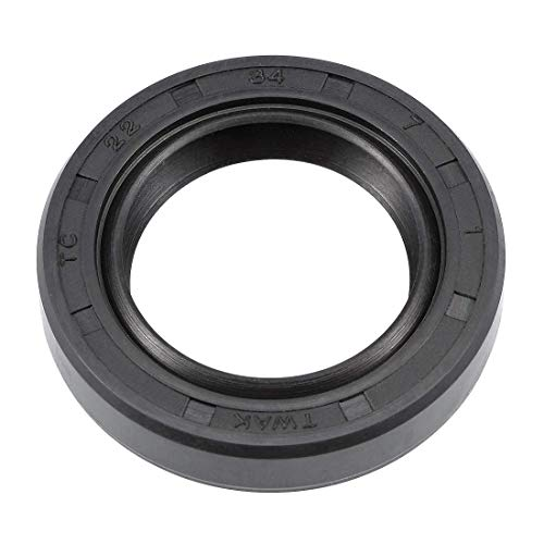 Othmro Oil Seal, TC 25mmx35mmx7mm, Nitrile Rubber Cover Double Lip Black TC Oil Shaft Seal for Car Automobile 1PCS