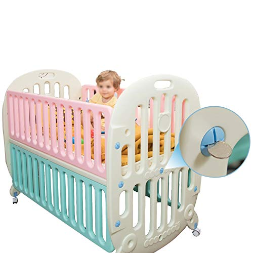 Best Deals! XJJUN Rocking Crib ,Suitable for Swinging Net Mattress Universal Wheel Mobile Splicing...