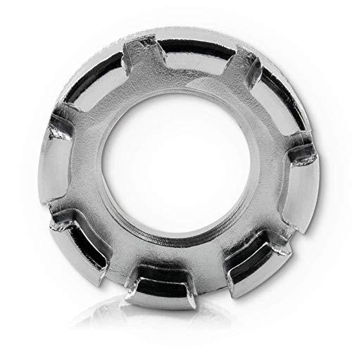 Fahrrad Speichenschlüssel Rad Zentrierer 8-fach Teller Schlüssel für Speichen Größe 10-15 von Fahrrad bis Mofa in Werkstattqualität! Nippelspanner- Speichenspanner – Spanschlüssel. - 4