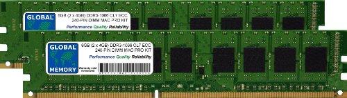 Memoria RAM DDR3 de 8 GB (2 x 4 GB) de 1066...
