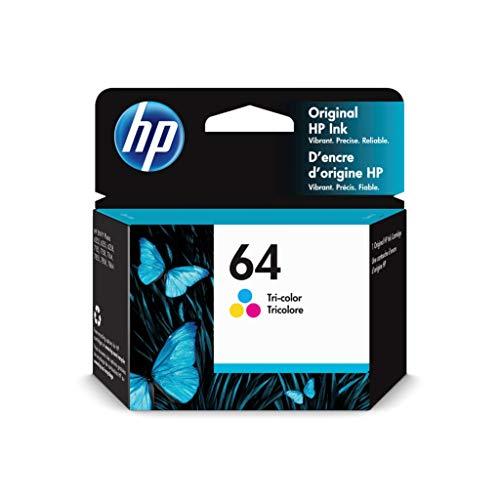 HP 64 | Ink Cartridge | Tri-Color | Works with HP ENVY Photo 6200 Series, 7100 Series, 7800 Series, HP Tango and HP Tango X | N9J89AN