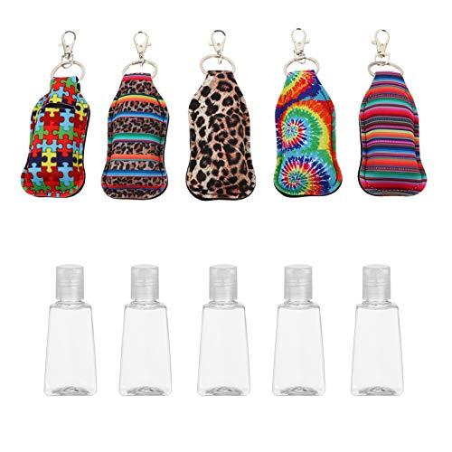 Beaupretty 5 Stücke Kunststoff Reiseflaschen Schlüsselanhänger mit Hülle Weihnachten Mitgebsel Flip Cap Flasche Leere Reisebehälter Nachfüllbare Duschgel Behälter für Shampoo Handgel Parfüm