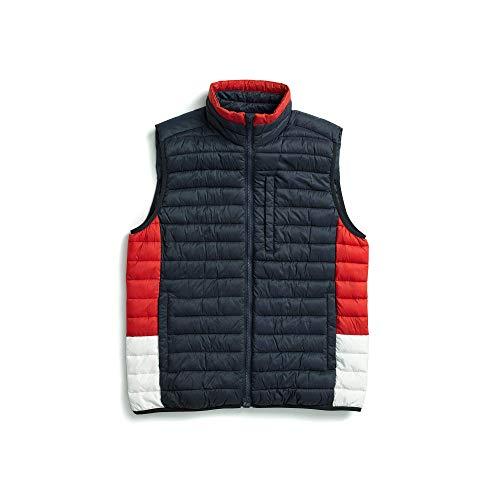 Tommy Hilfiger Herren Quilted Vest with Magnetic Zipper Daunenweste, Marineblau Blazer, Small
