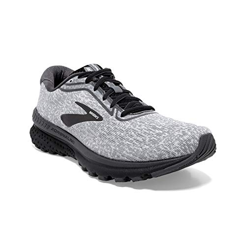 Brooks Mens Adrenaline GTS 20 Running Shoe - Grey/White/Blackened Pearl - D - 10