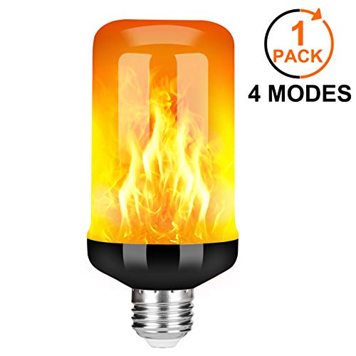 Y- STOP LED Flame Effect Fire Light Bulb - Upgraded 4 Modes Flickering Fire Christmas Decorations...