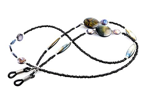 2 Pack Shell Beaded Eyeglasses Chain & Necklace for Women | Anti-slip...