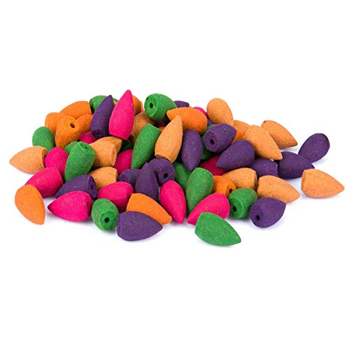JieGuanG Rückfluss-Räucherkegel, mehrfarbig, 100 Stück