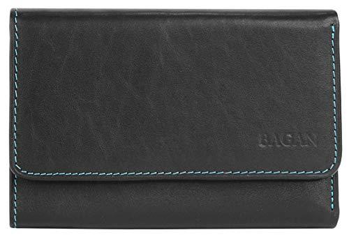 Bagan Geldbörse Echt Leder schwarz Damen - 017277