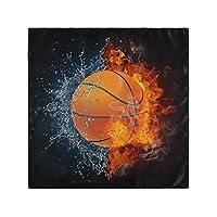 ディナークロスナプキンスポーツバスケットボールセット6キッチンテーブルナプキンファミリーディナーウェディングパーティーバンケットレストラン-50X 50 CM