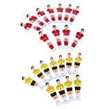 P Prettyia 22 Unidades de Muñequitos para Reemplazar Football Men de Futbolín de Mesa Hecho de Material Plástico Duro
