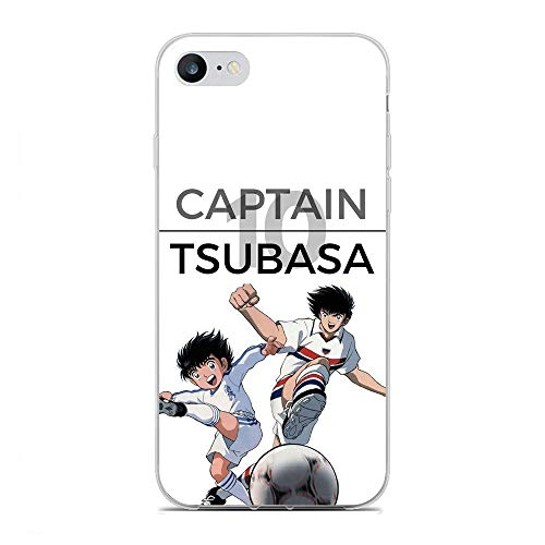 QNNN Transparent Silicone TPU Shockproof Clear Case Compatible with Apple iPhone 6/6s-Captain-Tsubasa Football 1