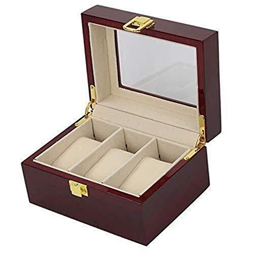 XUSHEN-HU Estuche de Almacenamiento colección de Relojes de Madera Caja de Reloj de Alto Grado 3 Piano Pintura Caja de Reloj de visualización del Contador Caja Caja de presentación