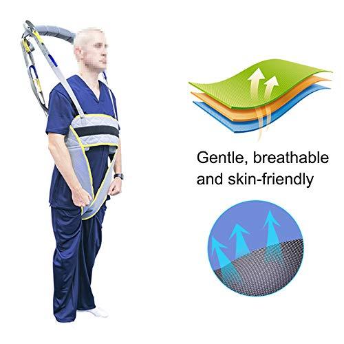 41waJkQ2iSL - WLKQ Paciente Honda Levantador Grúa Paciente Cuerpo Completo Elevación Paciente Cabestrillo Malla De Seguridad Médica Eslinga De Elevación para Enfermería, Ancianos, Discapacitados