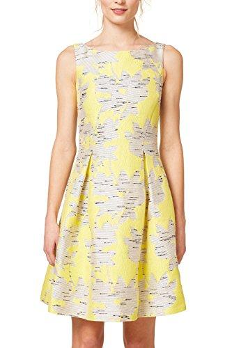 ESPRIT Collection Damen 048EO1E031 Kleid, Gelb (Yellow 750), 40