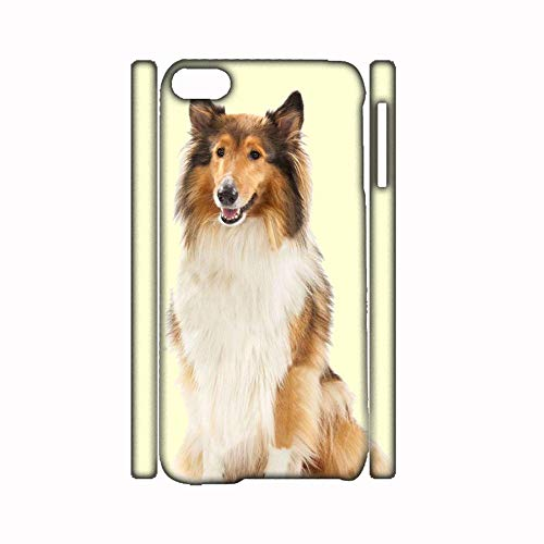 Generic Cute PC Phone Shell Compatible para Apple iPhone 6 6S 4.7 Inch Print Collie for Kids