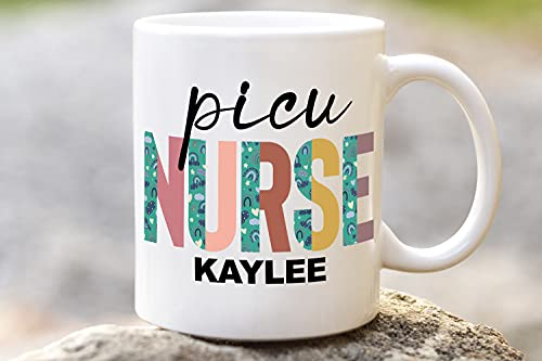 PICU Nurse Gift Mug, Personalized RN Pediatric Intensive Care Nurse Gift Ideas For Graduates, Registered Nurse Practitioner Graduation Gifts For Women, Nursing Graduation For Her NP