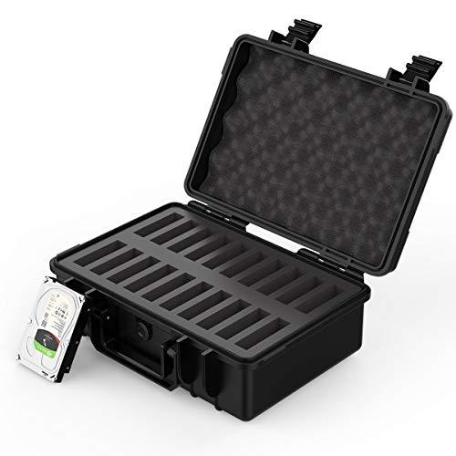 ORICO Festplattenkoffer 20 * 3.5 Zoll Hand-gehalten Festplattenlaufwerke, Schutzkoffer für Festplatten Western Digital WD Seagate Toshiba Samsung Intenso