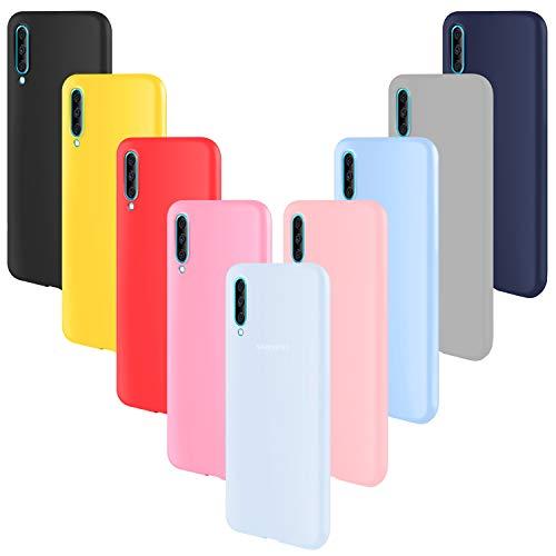 ivencase 9 × Funda Samsung Galaxy A70, Carcasa Fina TPU Flexible Cover para Samsung Galaxy A70 (Rosa Gris Rosa Claro Amarillo Rojo Azul Oscuro Translúcido Negro Azul Claro)
