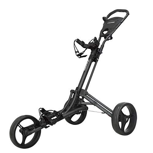 vilineke One Click Chariot de golf pliable 3 roues Gris foncé