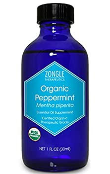 Zongle USDA Certified Organic Peppermint Oil Safe to Ingest Mentha Piperita 1 OZ