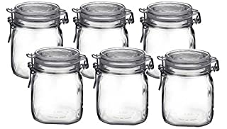 Bormioli Rocco Fido Clear Glass Jar with 85 mm Gasket.75 Liter (6 Pack), (Pack of 6) (B071W5XKZN) | Amazon price tracker / tracking, Amazon price history charts, Amazon price watches, Amazon price drop alerts