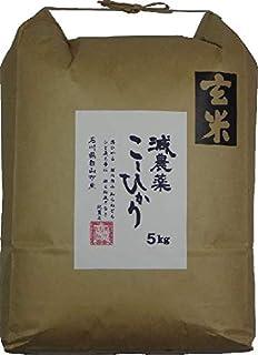 玄米 5kg 「やわらか玄米」平成30年産(2018年産新米) 石川県白山市産 有機肥料で育てた減農薬米 コシヒカリ … (5kg)