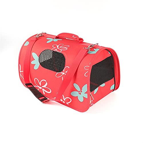 IGEANEI Bolsa para Mascotas Carrier de Perro Mochila Cat Pequeño Perro Bolso Transpirable Pet Caja de Mano Bolso de Viaje Bolso de Viaje para Gatos para Gatos (Color : Red, Size : S)