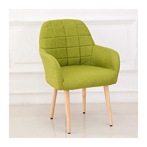 QZYQ Silla Comedor sillas Cocina sillas Salon Silla de Dormitorio Silla de Comedor nórdica de Haya Natural, sillón Minimalista Moderno, Tejido Artesanal (Color : Green)