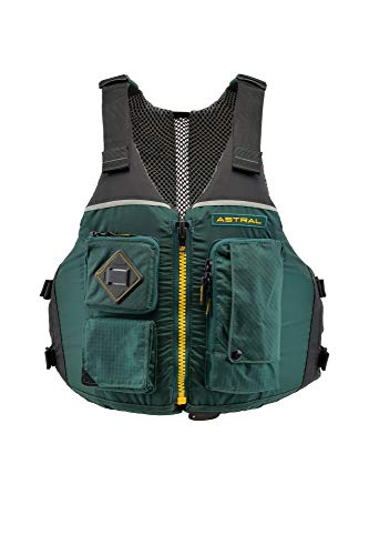 Astral Ronny Life Jacket PFD for Recreation, Fishing, and Touring Kayaking, Conifer Green, M/L