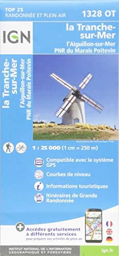 la Tranche-sur-Mer.l'Aiguillon-sur-Mer.PNR du Marais 1:25 000: 1328/OT (Top 25 & série bleue - Carte de randonnée)