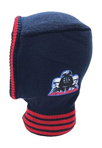 Star-Wars Darth Vader Stormtrooper Winter-Mütze Schlupfmütze, Farbe:Dunkel-Blau