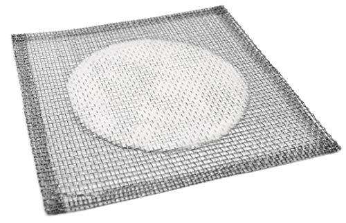 eisco Labs alambre de hierro centro de gasa con cerámica, 6pulgadas x 6pulgadas (paquete de 10)