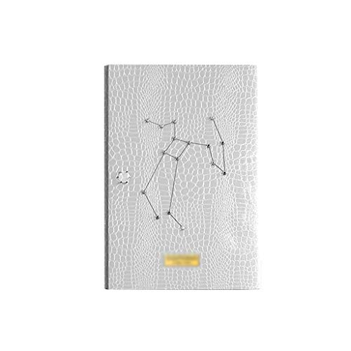 Notebooks Notebook Travel Journal Leather A6 Binder Notepad 6 Round Ring Business Notebook Perfect Gift for Women Girls Teachers Office & School Supplies (Color : White)
