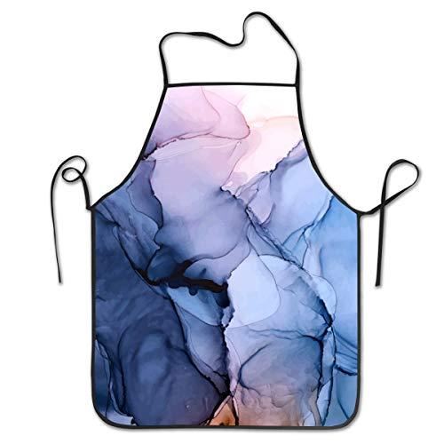 Lesif Pack Delantal para babero, cautivador con tinta de alcohol, para cocina, cocina, delantales, 71 x 50 cm